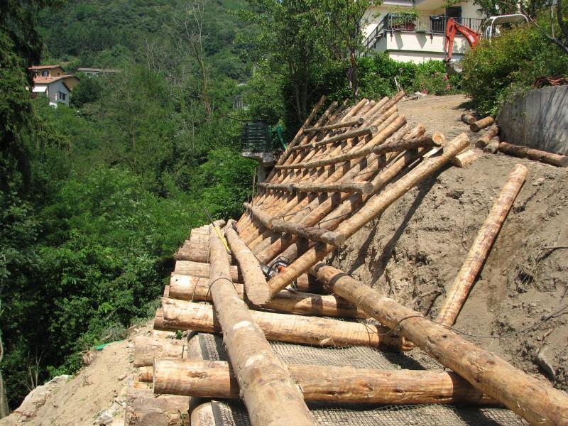 I nostri lavori per ingegneria naturalistica palificate doppie e semplici scarpate franate e - Palizzate in legno per giardino ...