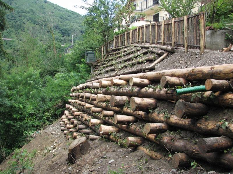 I nostri lavori per ingegneria naturalistica palificate - Palizzate in legno per giardino ...